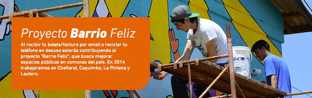 """""""Barrio Feliz"""" comprende en el reciclaje de celulares y la boleta electrónica."""