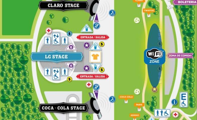 Sólo el sector VIP de Lollapalooza Chile 2014, tendrá Wi-Fi por parte de Claro.