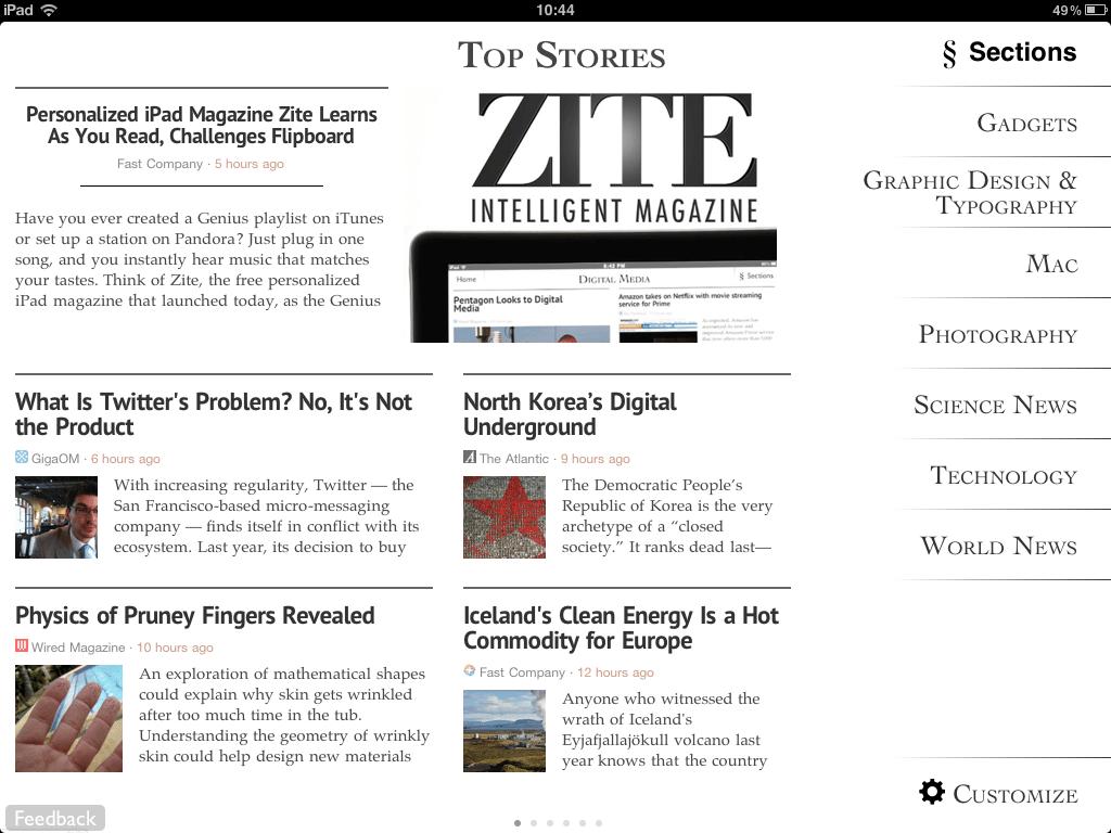 Flipboard compró Zite, donde espera aprovechar su tecnología para personalizar su servicio.