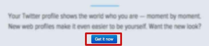 Activar nuevo perfil de Twitter