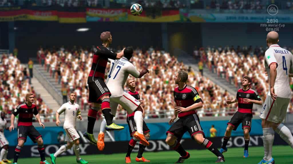 En 2014 FIFA World Cup Brazil se puede saltar sobre los jugadores para ganar la posición.