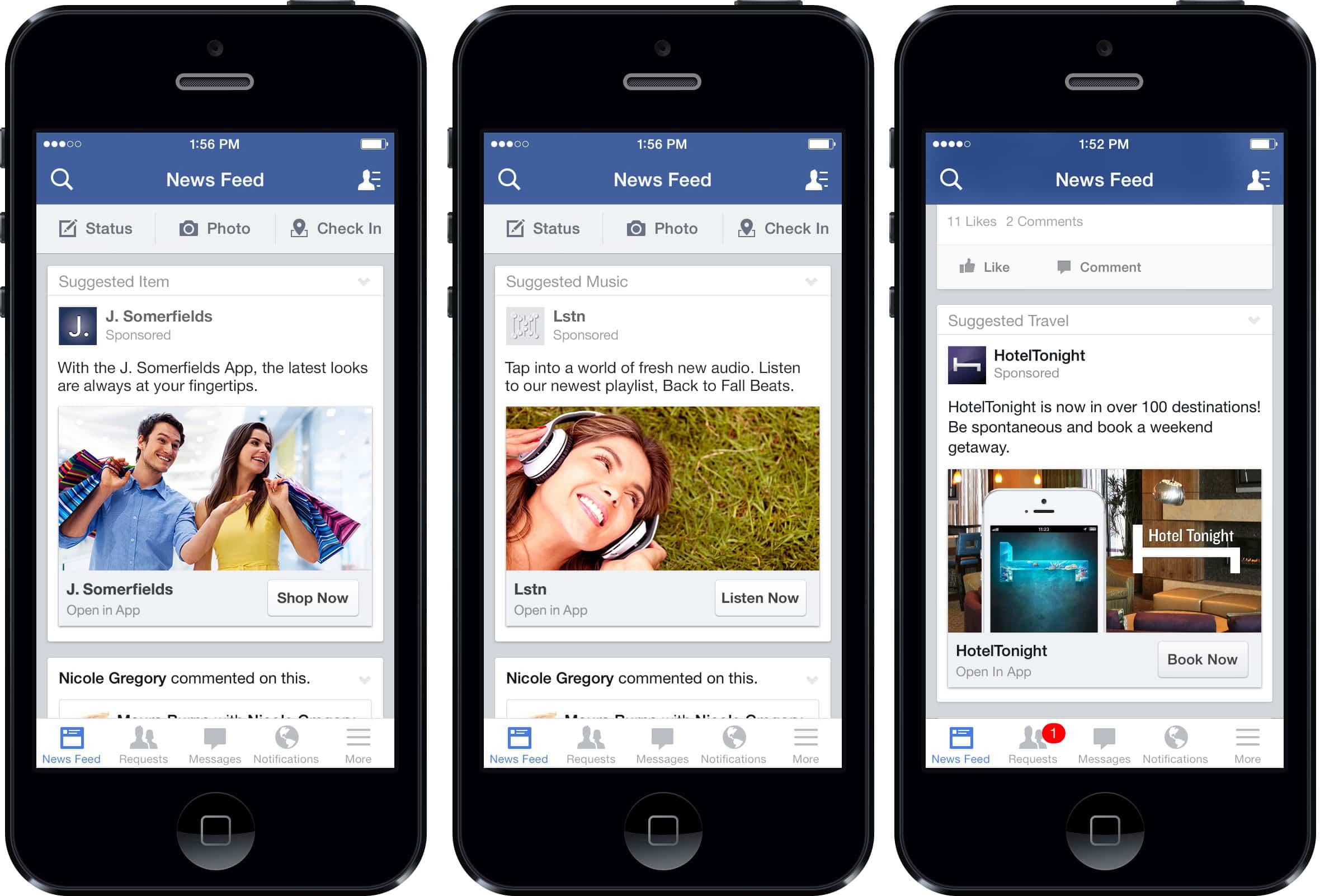 Facebook prepara un nuevo sistema de publicidad móvil.
