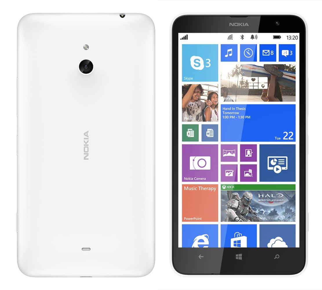 La versión en blanco del Lumia 1320 se venderá en Chile.
