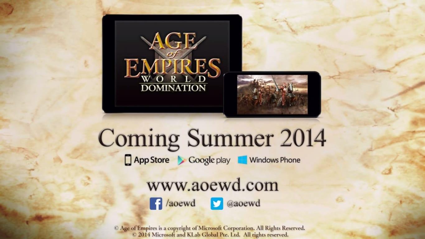 Age of Empires World Domination llegará al mercado en el segundo semestre de 2014.