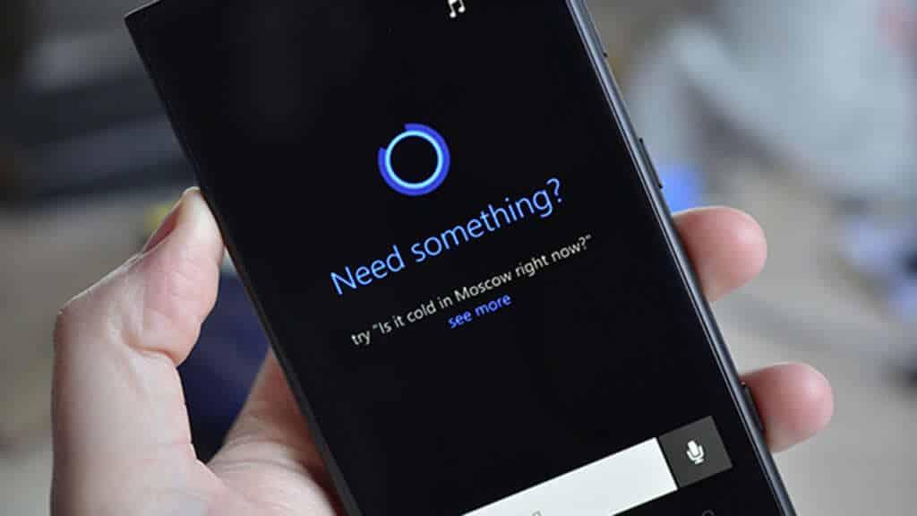 Interfaz de Cortana, el primer asistente personal de Microsoft para Windows Phone.