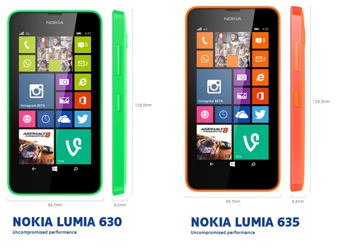 Nokia presentó el Lumia 630 y 635, sus modelos económicos.