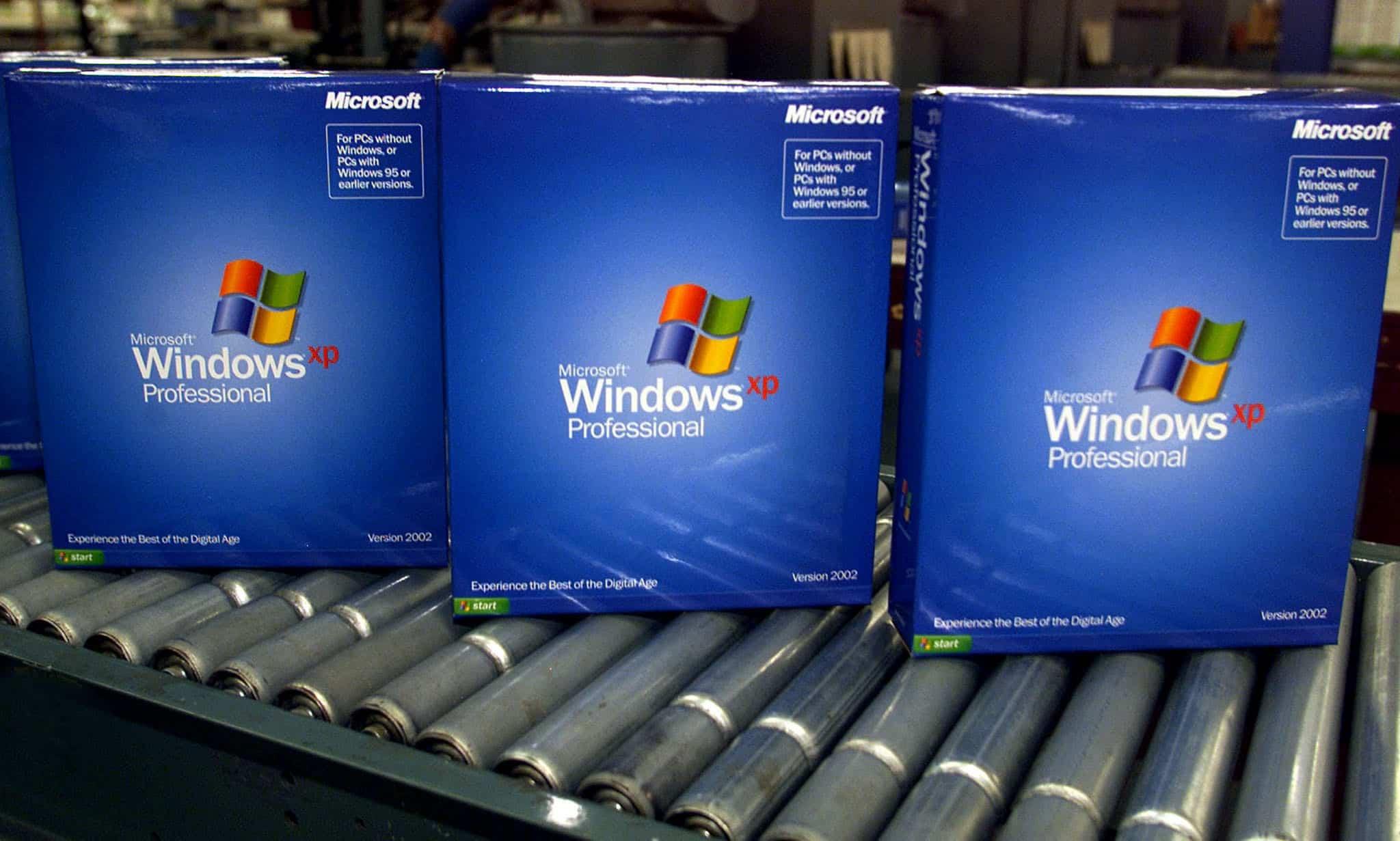 Windows XP estaba presente en el 70% de los computadores de China.