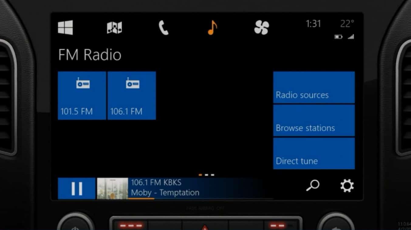 Windows in te Car busca introducir las funciones del sistema operativo en el automóvil.