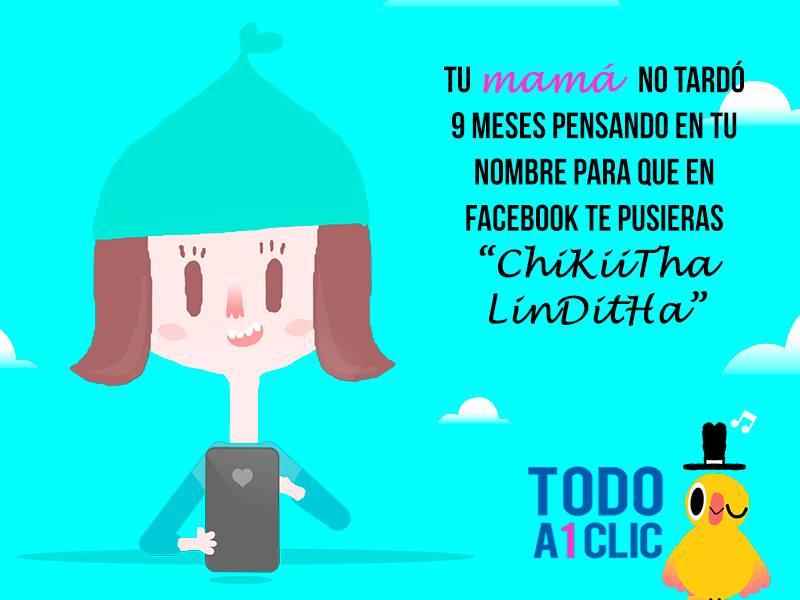 Campana Todo a 1 clic Aviso nombre Facebook