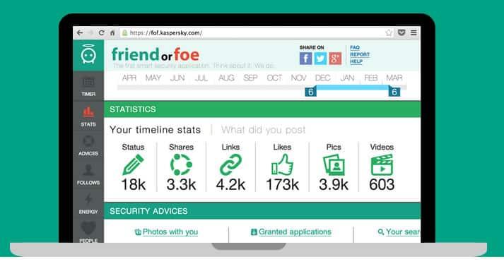 Así luce la interfaz de FriendOrFoe.