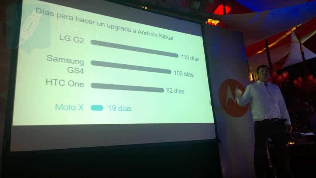 Lanzamiento Moto E en Chile (comparacion update android)