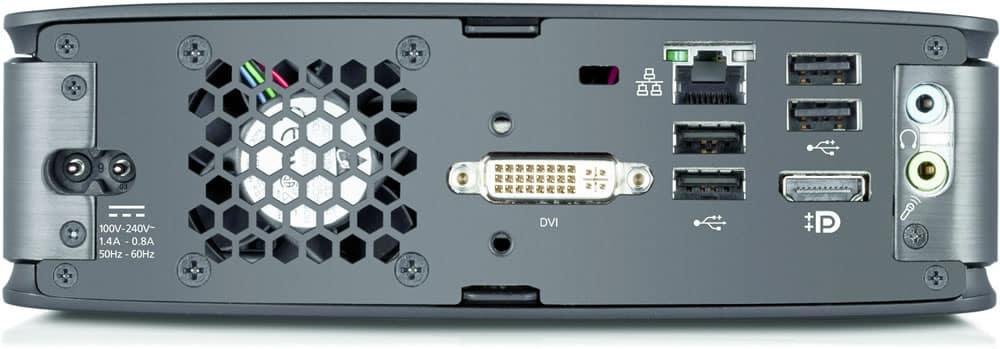 Conectores traseros del Esprimo Q520.