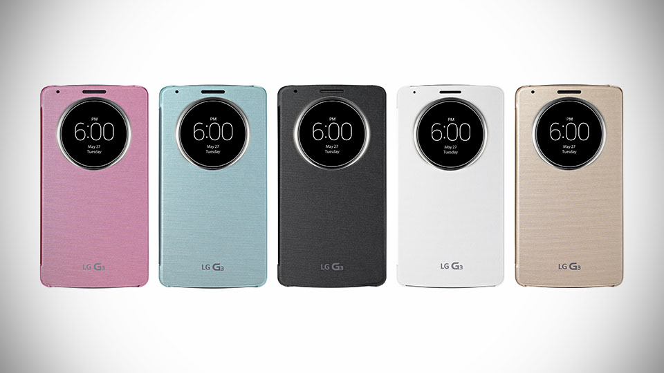 QuickCircle Case del LG G3.