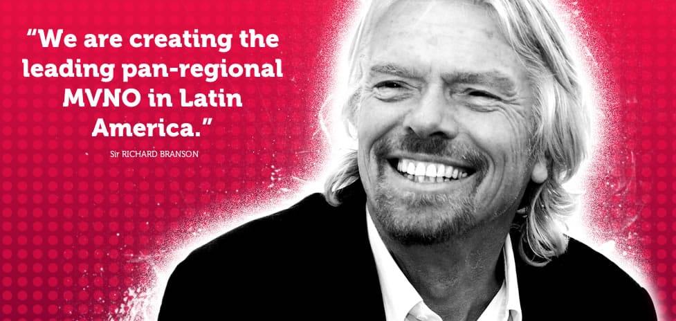 Richard Branson está convencido de la expansión de Virgin Mobile en Latinoamérica.