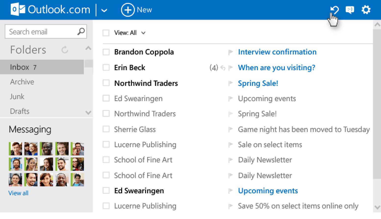 Microsoft Oulook incorporó la función 'deshacer' que permitirá a los usuarios retroceder en sus acciones.