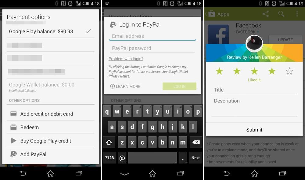 Google Play está ampliando las formas de pago, ahora se abrió a Paypal.