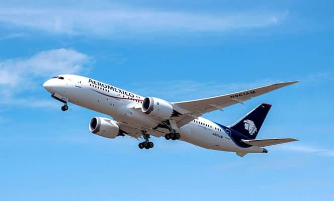 Este es uno de los Boeing 787-8 Dreamliner que Aeroméxico tendrá con Internet.