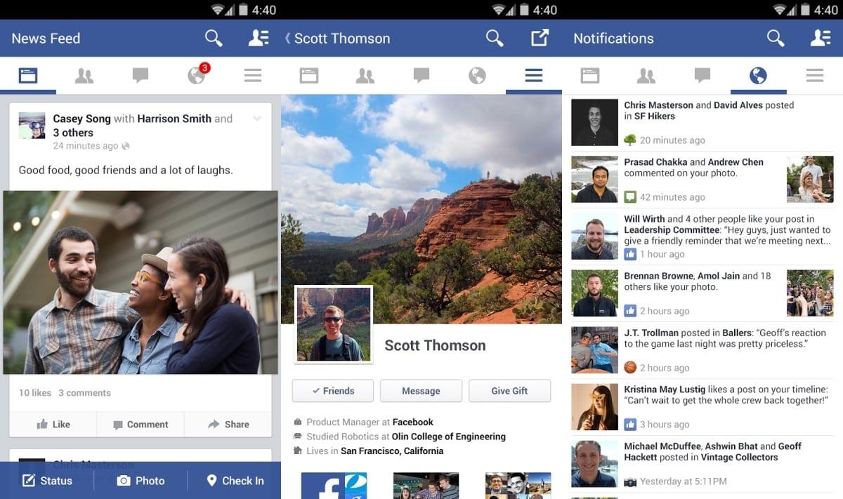 Facebook mejoró las funciones offline de su aplicación para Android.