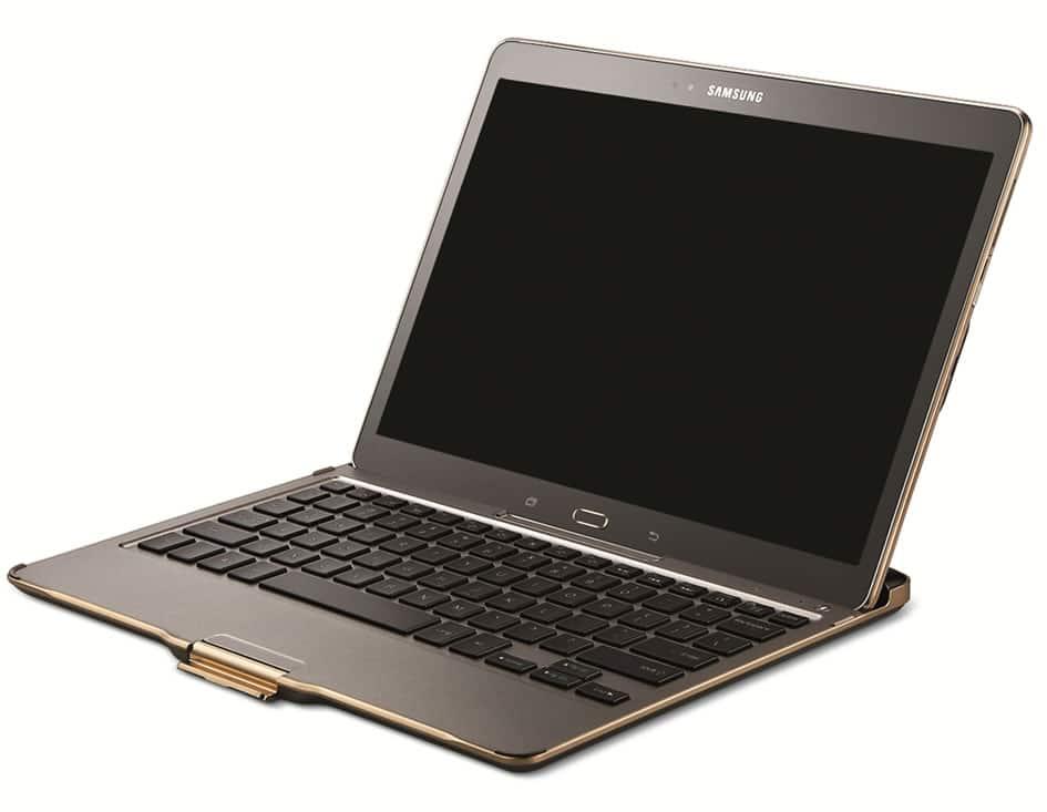 La Galaxy Tab S vendrá con una serie de accesorios como este teclado Bluetooth.