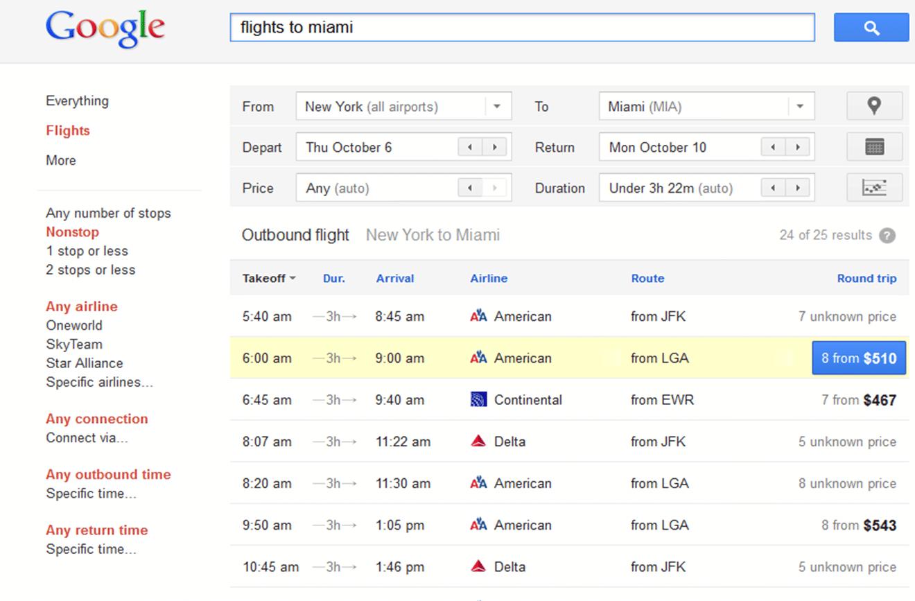 Google Flight Search es el nuevo servicio del motor de búsqueda para encontrar el vuelo ideal de los usuarios.