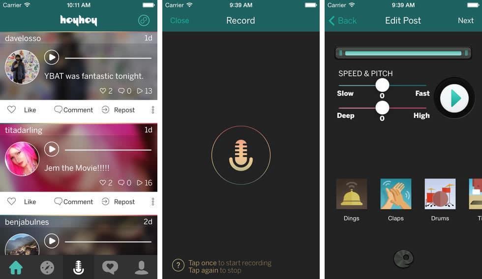 HeyHey App Red Social Audio iPhone iOS