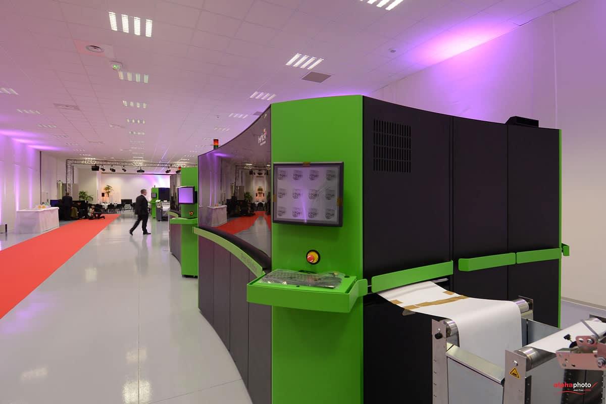 El nuevo centro de impresión de tinta cuenta con una sala de exposición de casi 8.500 metros cuadrados.