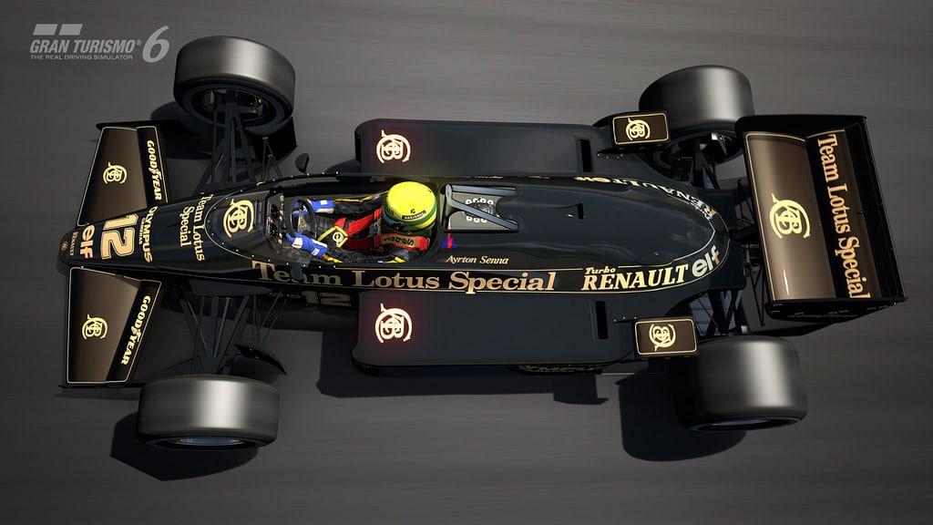 Ayrton Senna representado en el Lotus 97T para GT6.