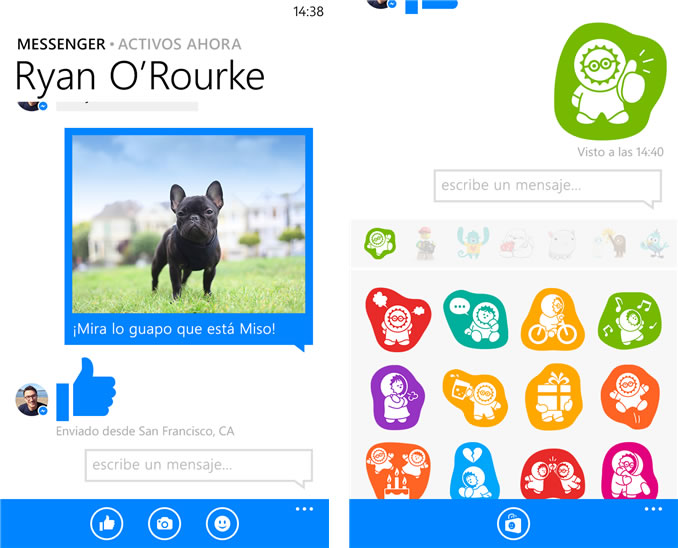 Además de los grupos, el nuevo Facebook Messenger también tendrá mejor control de fotografías y stickers.