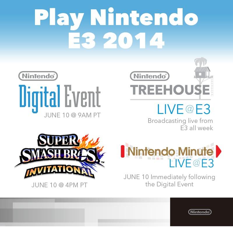 Nintendo E3 2014 horarios eventos