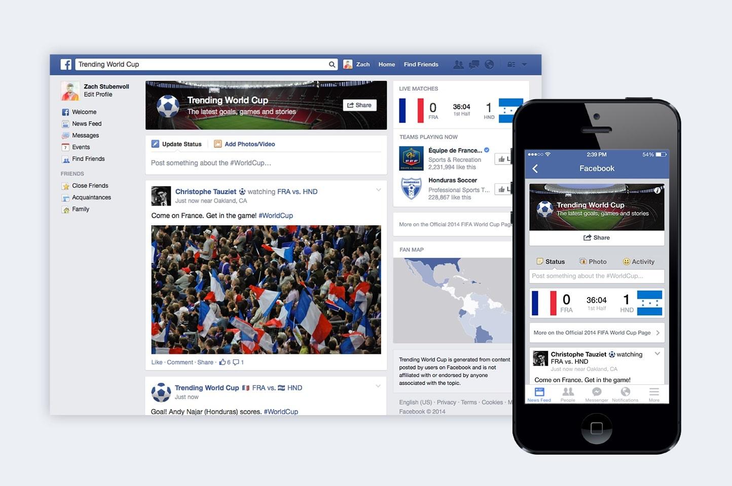 Facebook ha sido una de las principales plataformas de difusión y debate que han usado los usuarios para el Mundial de Brasil.