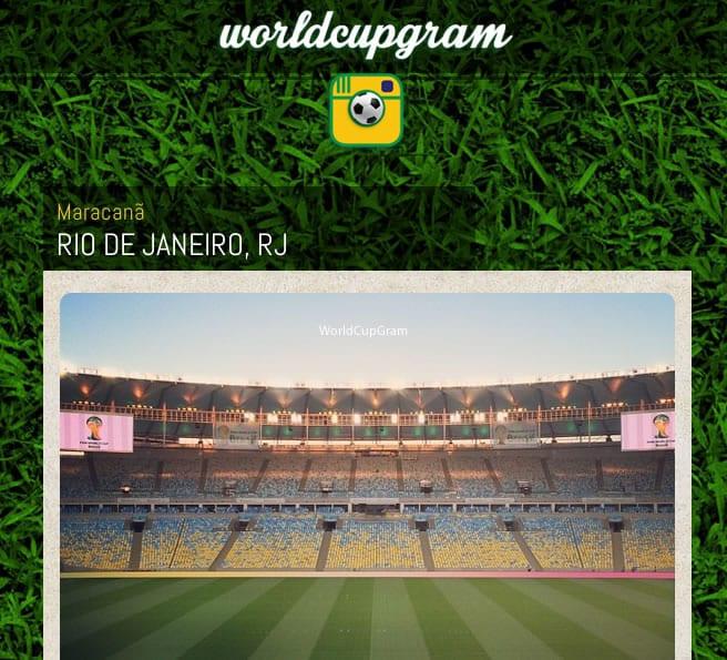 WorldCupGram te permite ordenar las fotografías por estadio, partido y centro de entrenamiento.
