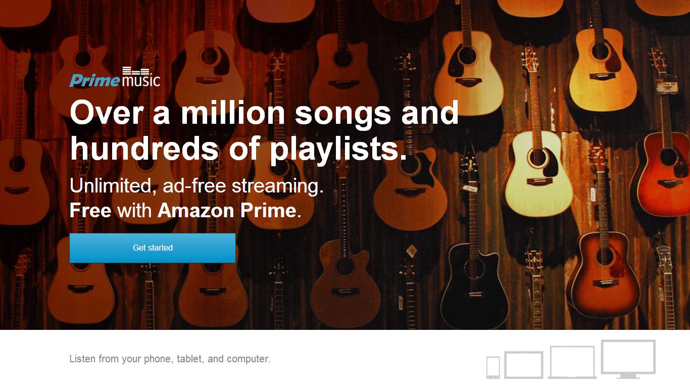 El catálogo inicial de Amazon Prime Music cuenta con más de un millón de canciones.