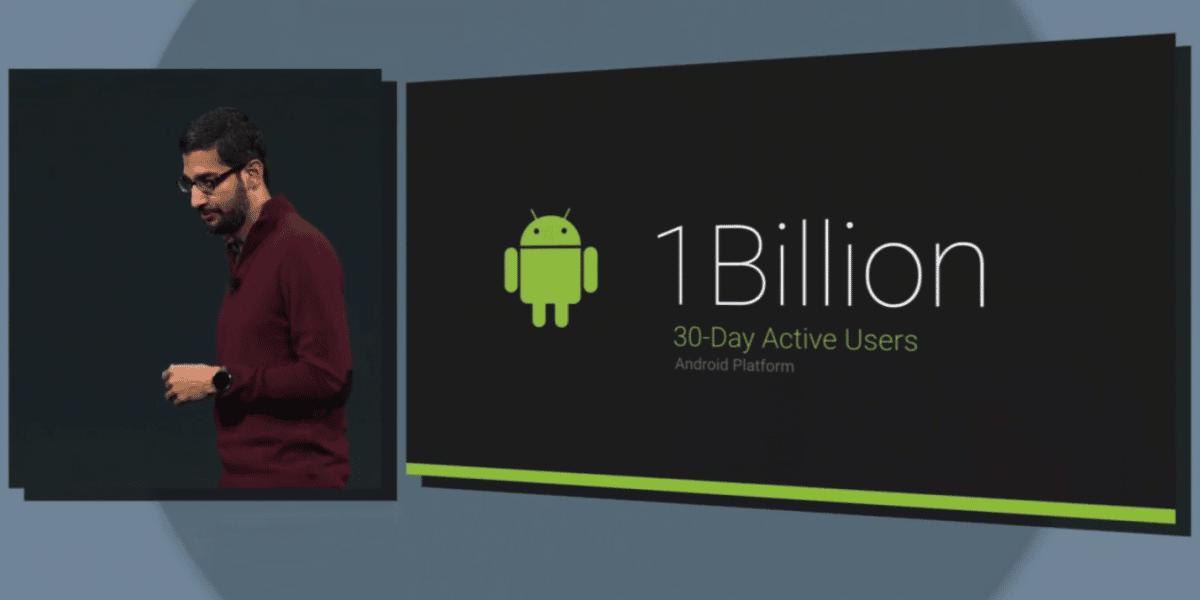Google celebró haber conseguido más de mil millones de usuarios en Android.