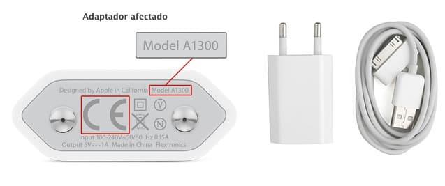 Cargadores Afectados Apple A1300