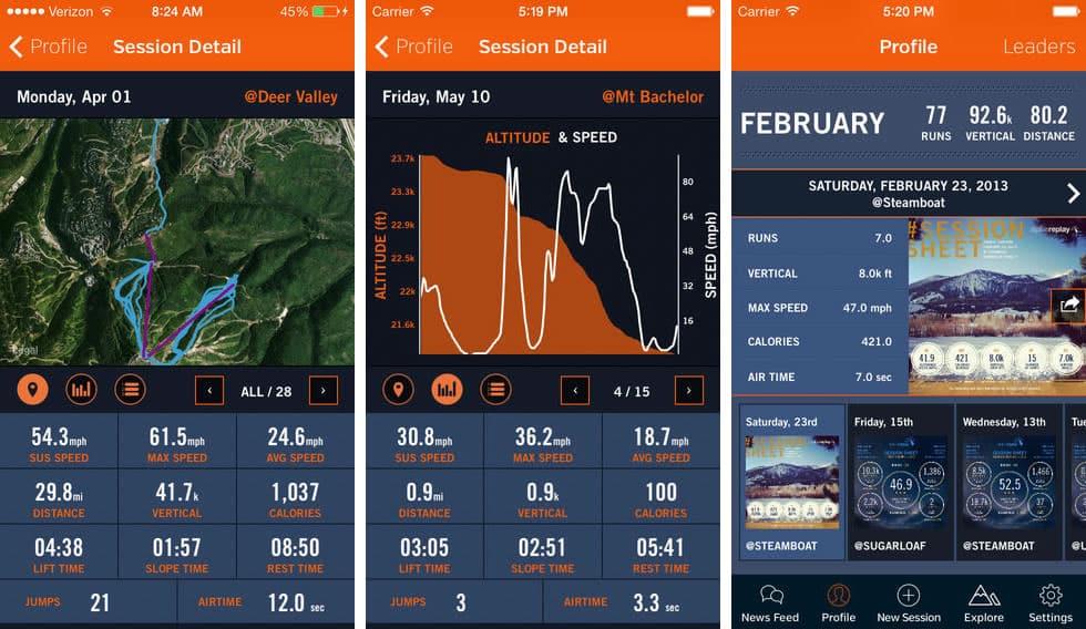 AlpineReplay Ski & Snowboard iPhone iOS OhMyGeek