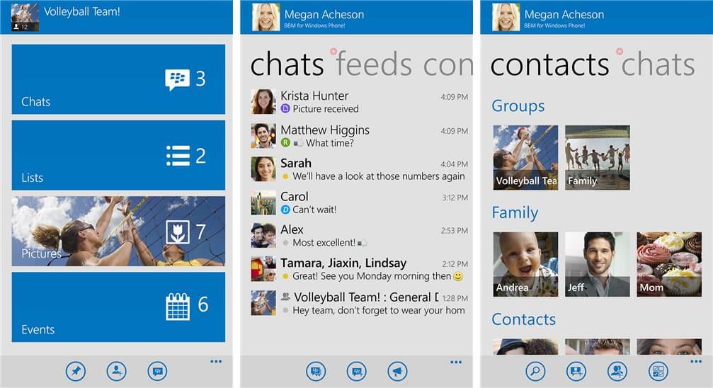 Blackberry Messenger para Windows Phone.
