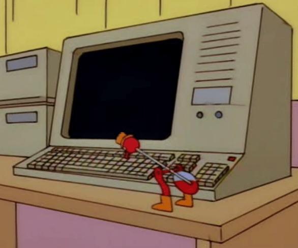 Quizás Lonely Sculpture se inspiró en el pájaro de adorno en Los Simpsons.