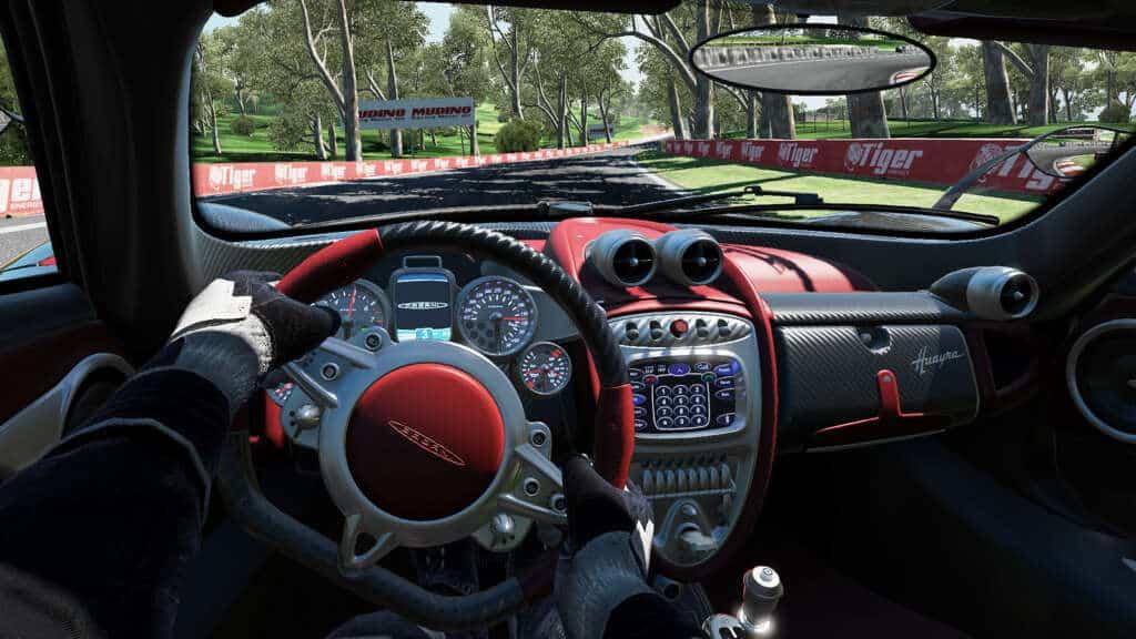 Utilizando unas gafas como Oculus Rift, podríamos jugar así Project CARS.