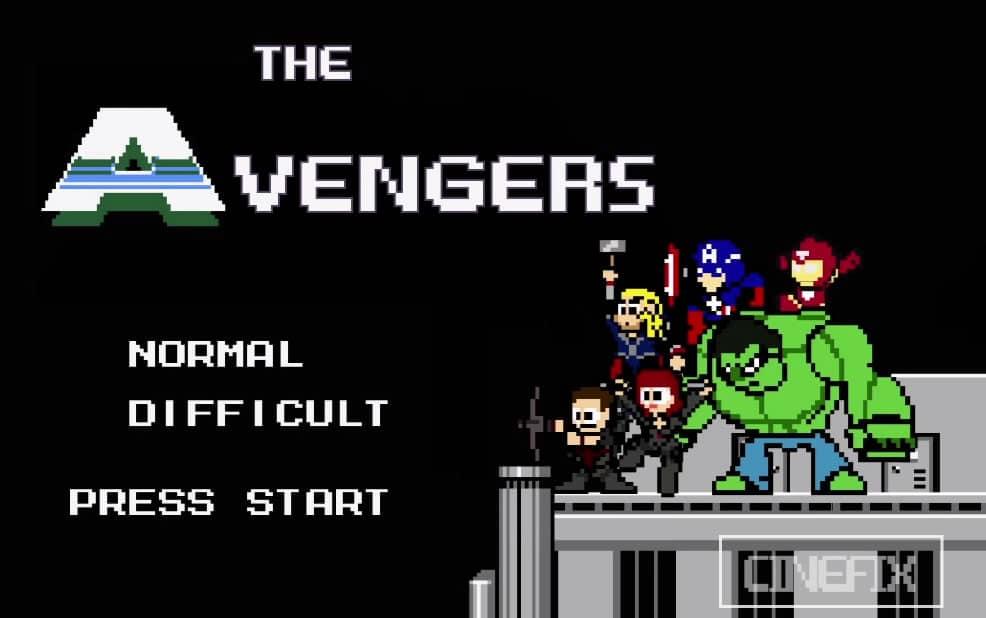 The Avengers en 8-bit.