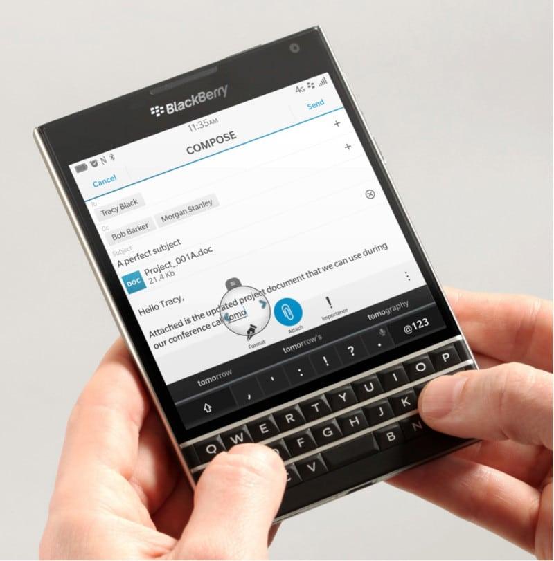 Blackberry Passport será el primer equipo de la compañía en incluir el nuevo asistente de voz.