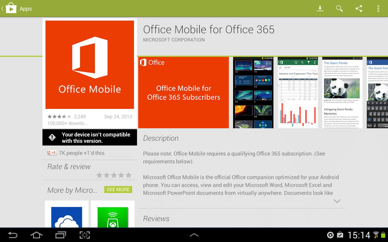 Microsoft quiere que los usuarios y empresas evalúen la calidad de Office en Android.