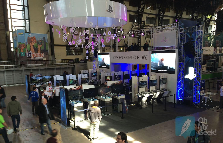 Booth de Sony en Festigame 2014.