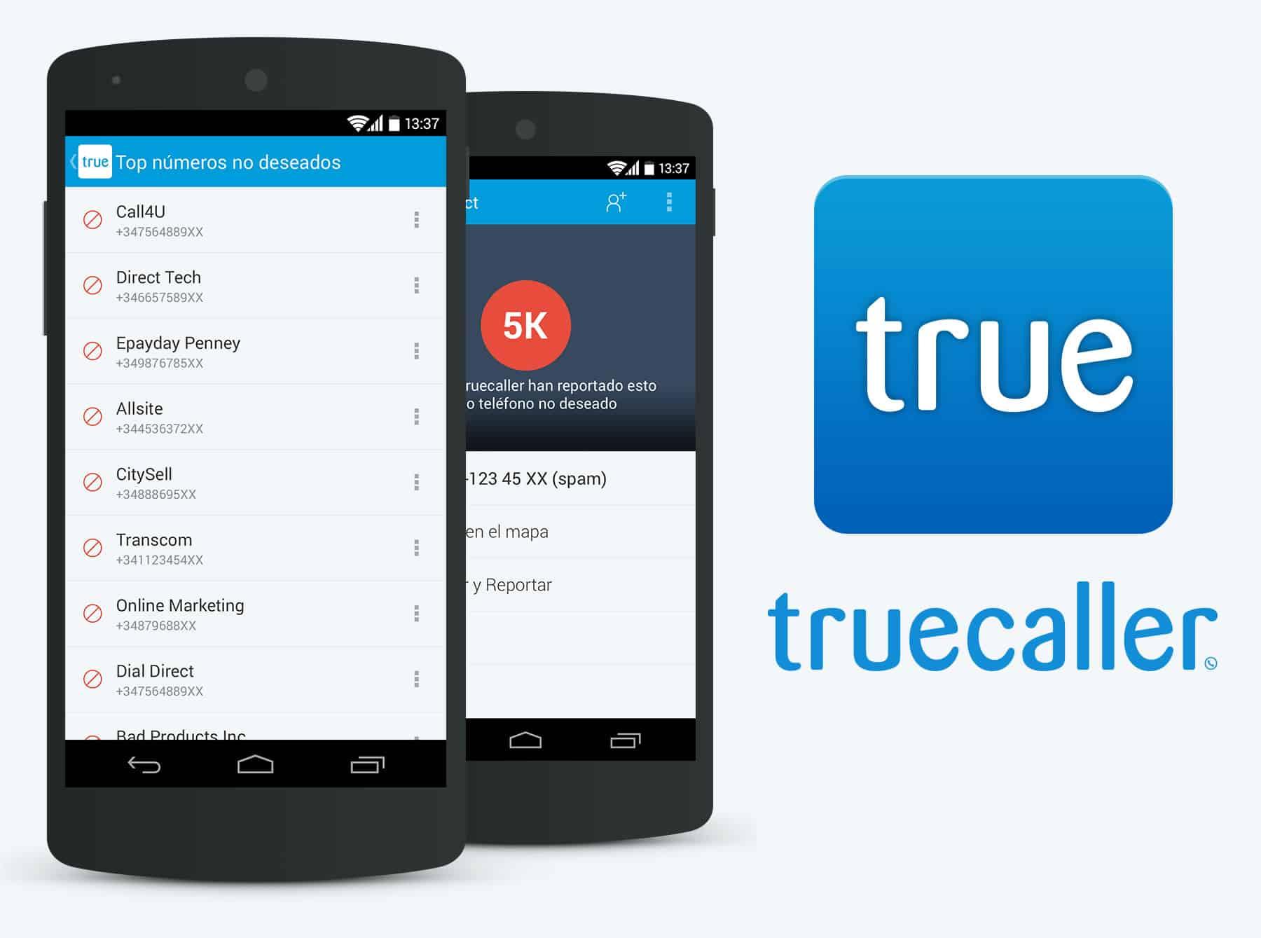 Truecaller en Android.
