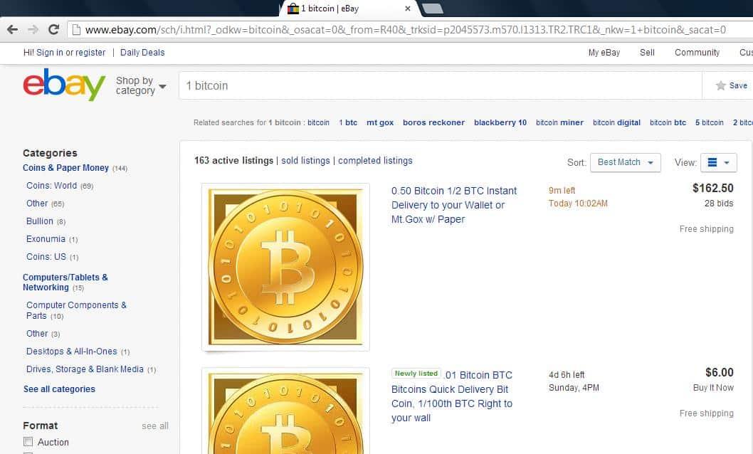 eBay pretende incluir de forma segura a los bitcoins como forma de pago.