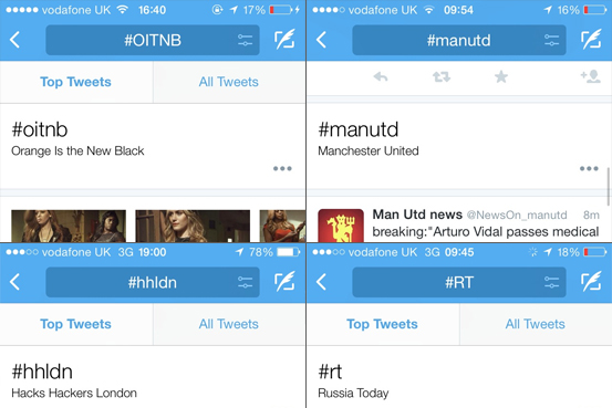 Hashtags: Twitter incluirá una función que explicará las abreviaturas que son trending topic.