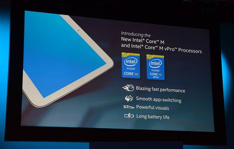 Intel Core M ofrece 50% más de rendimiento en cómputo y 40% más en rendimiento de gráficos.