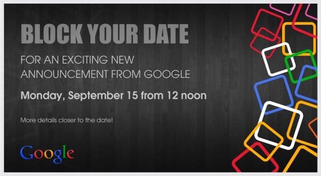 Google prepara evento para el 15 de septiembre, donde debería presentar Android One.