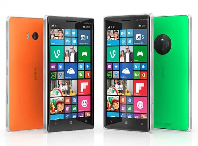 Microsoft Lumia 830.