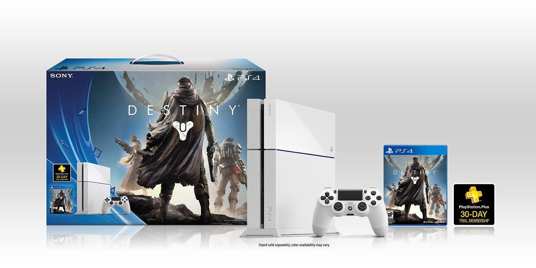 Así luce el bundle completo de Destiny con la consola blanca.