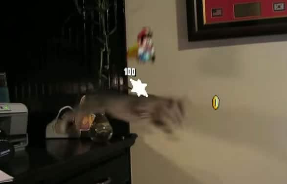 El clip muestra a Super Mario interviniendo en la vida real para que las cosas salgan mal.